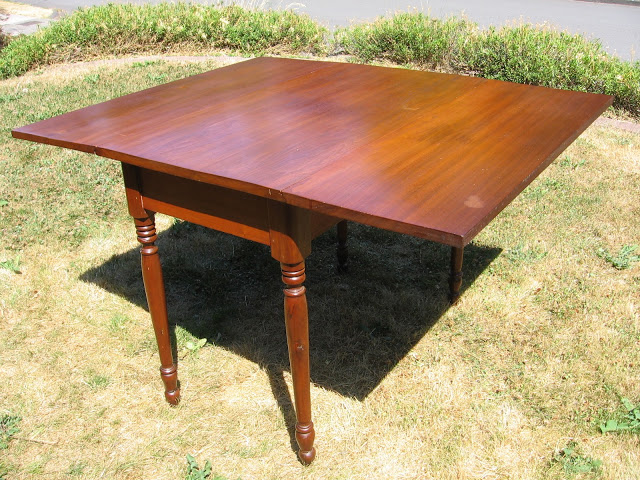 Image of: antique drop leaf table styles