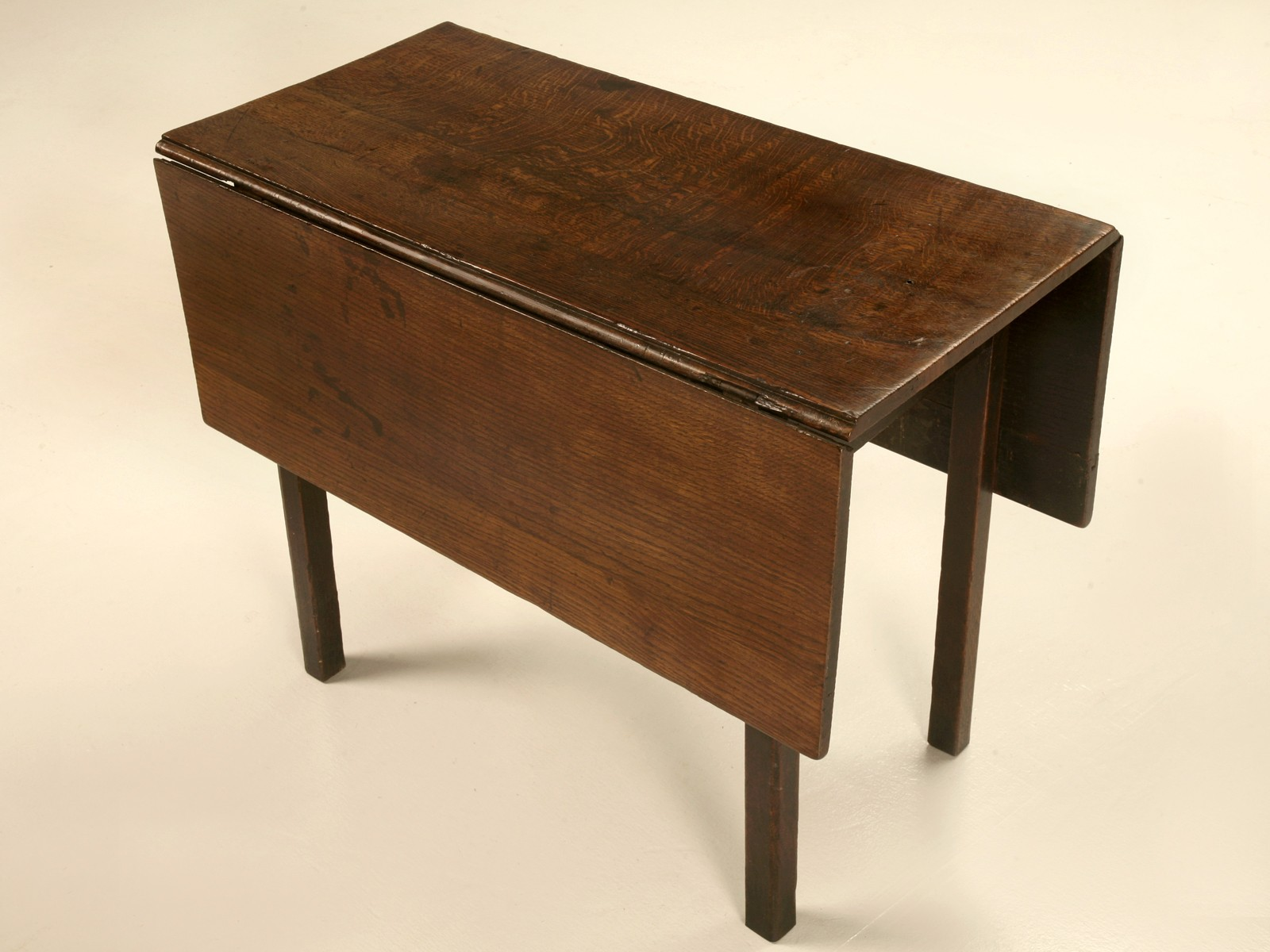 Image of: antique drop leaf table