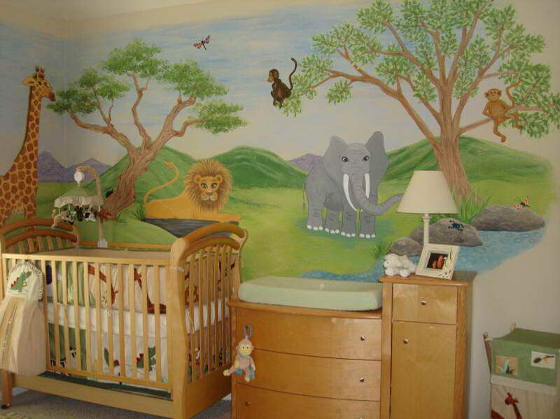 baby boy room decor jungle