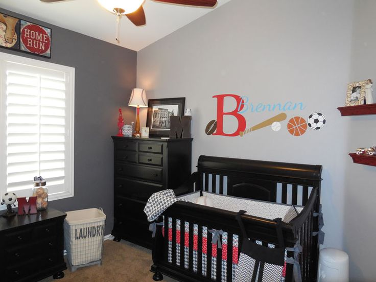 Image of: baby boy room decor sports