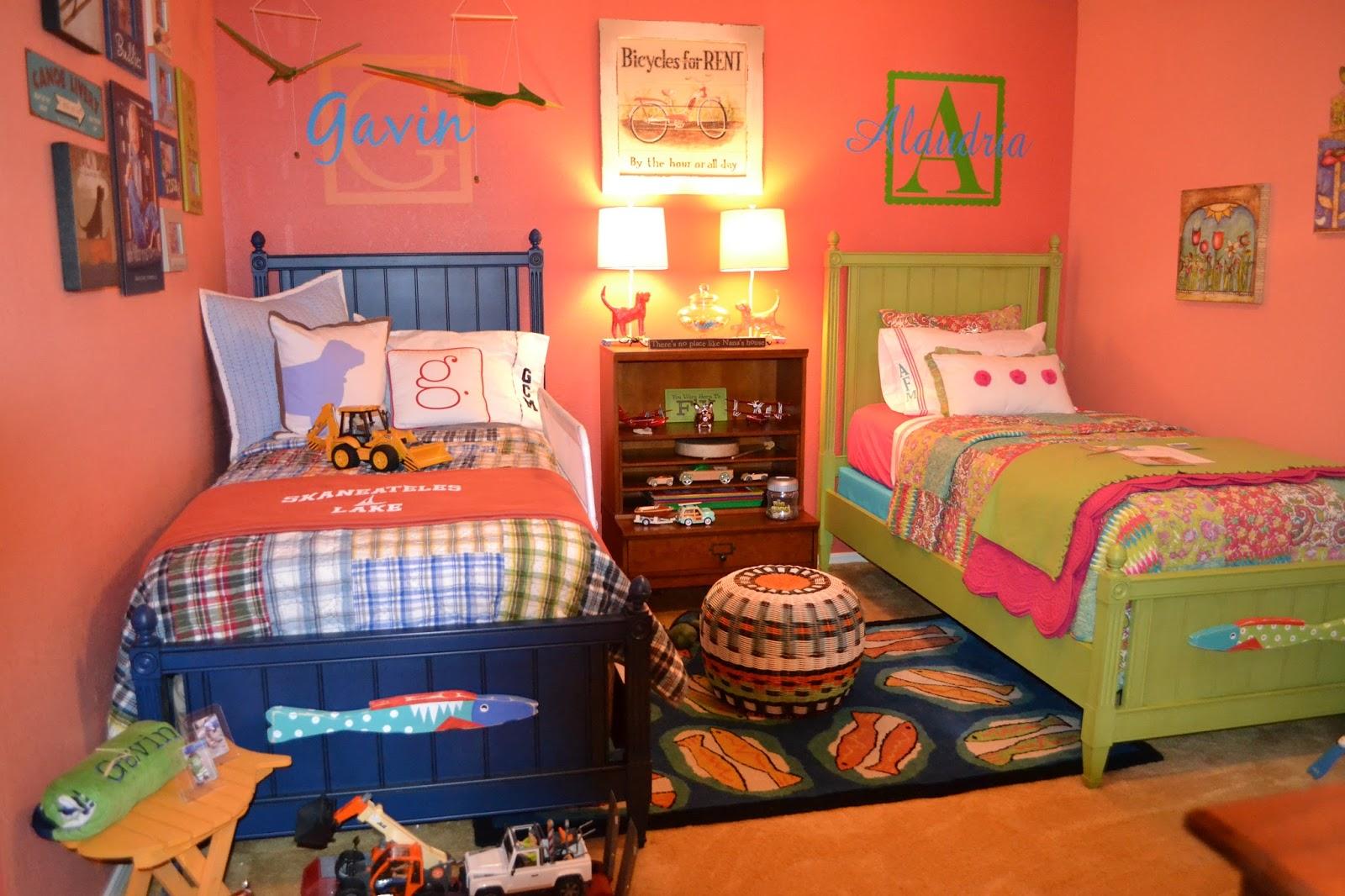 boy and girl bedroom decor