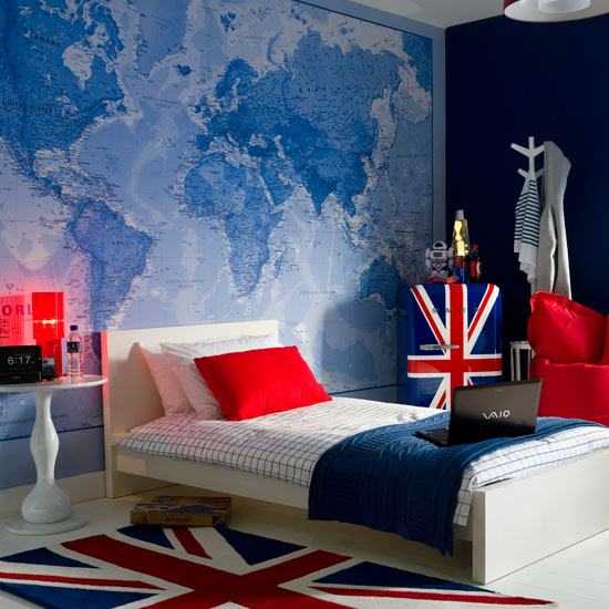 Image of: boy bedroom decorating ideas uk