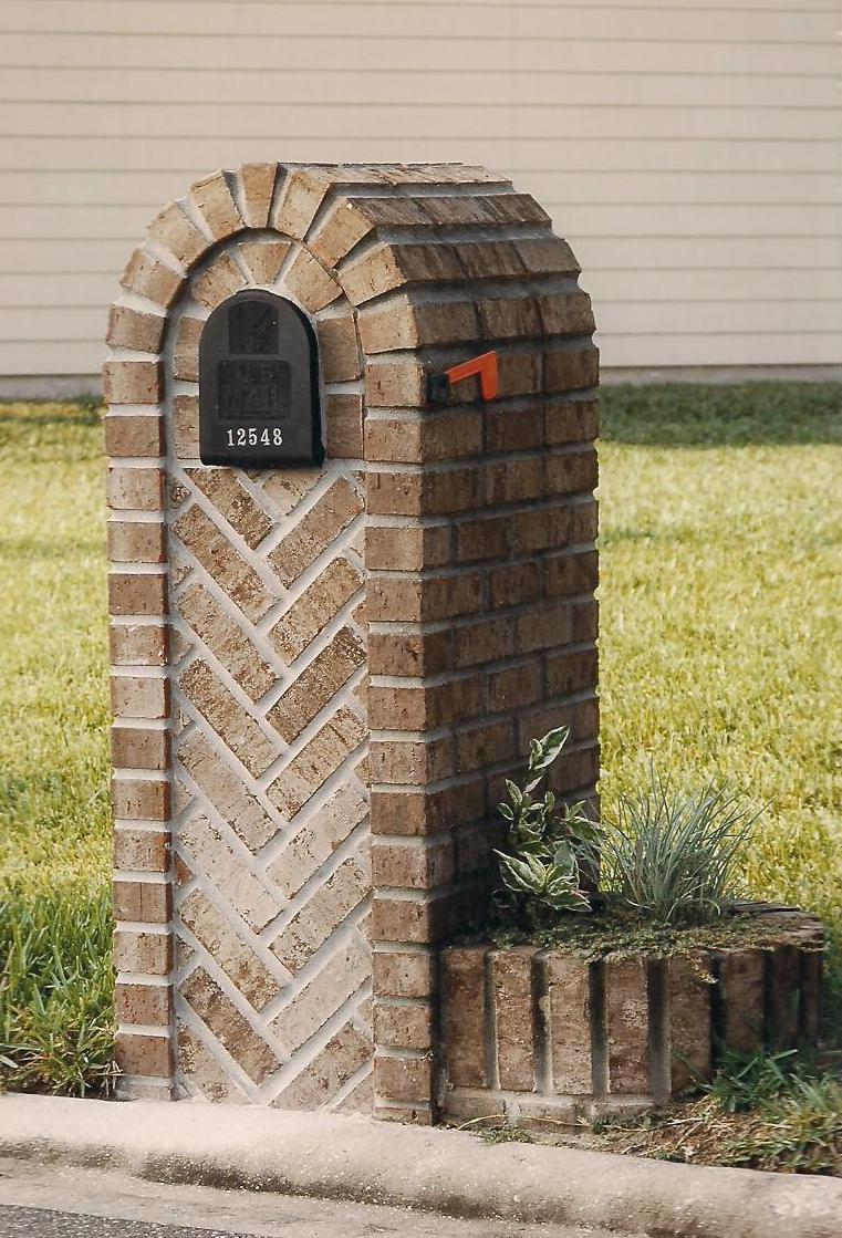 Image of: brick and stone mailbox designs