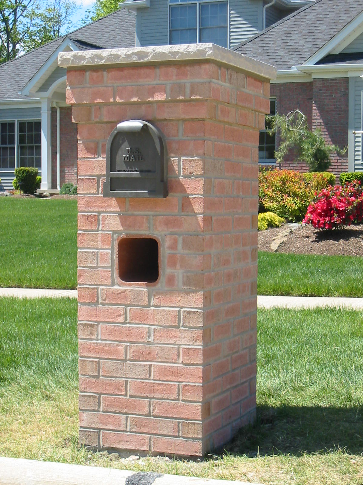 Image of: brick mailbox design pictures