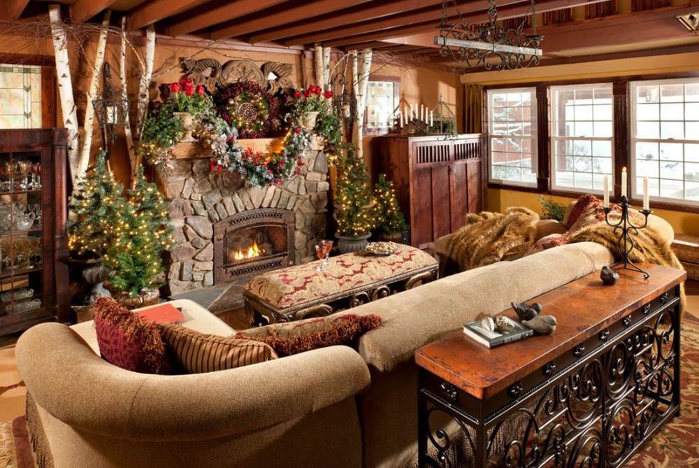 Image of: cabin place rustic cabin decor