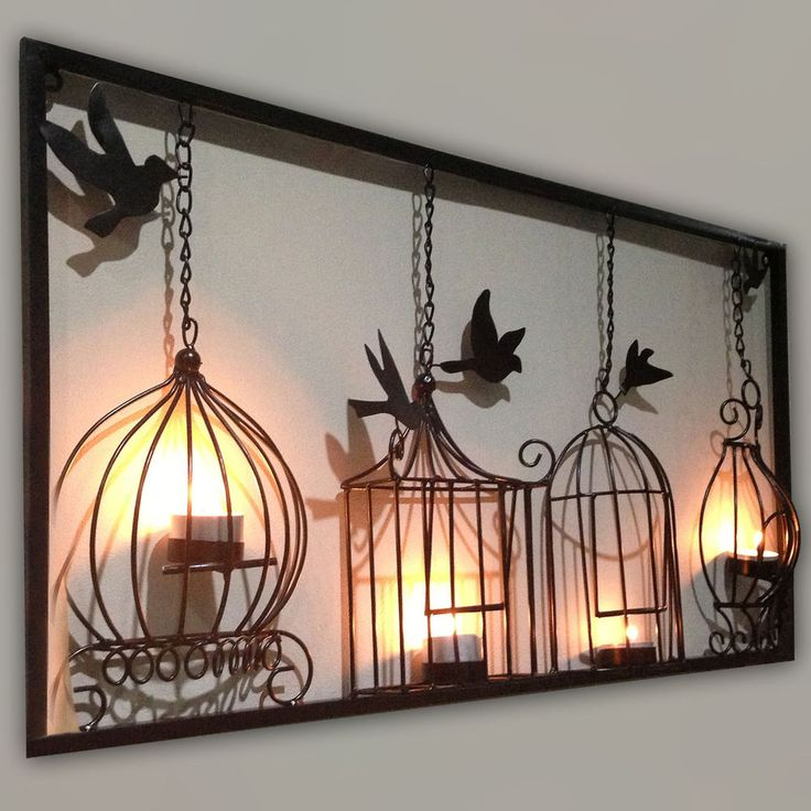 Image of: candle wall decor