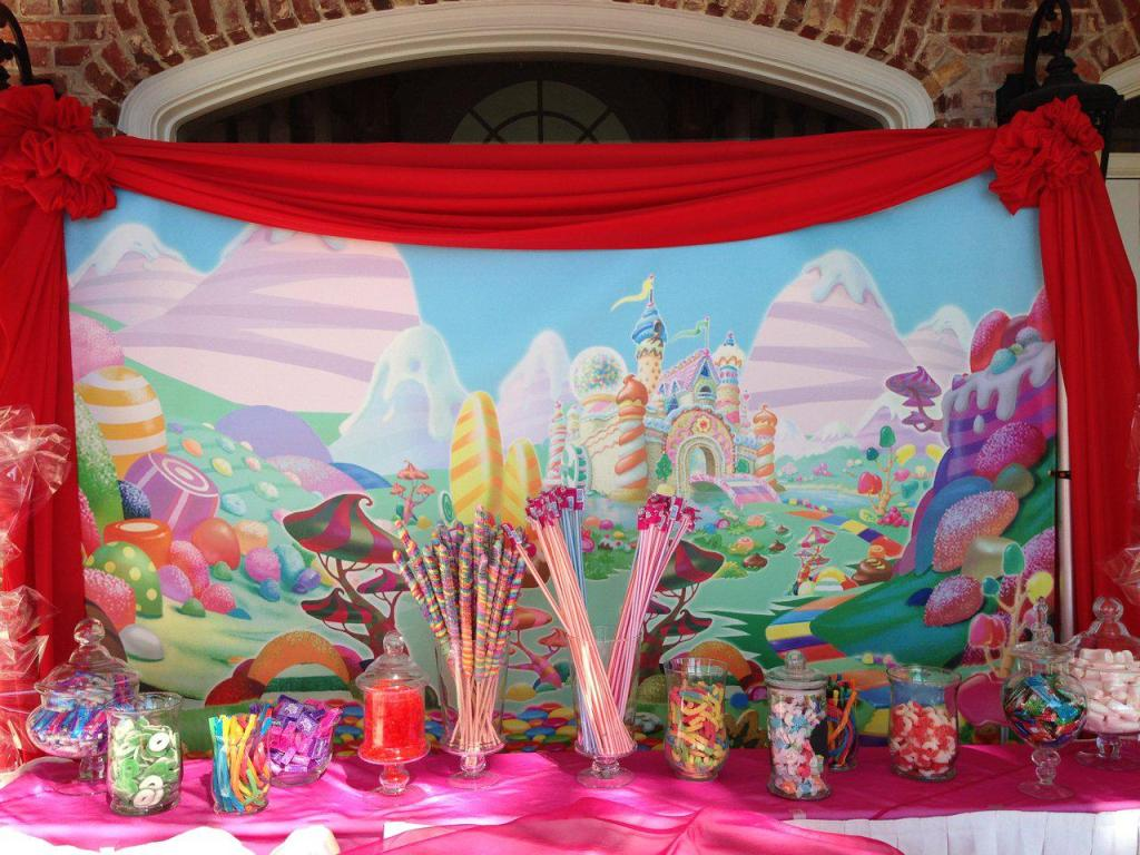 Image of: candyland party decor