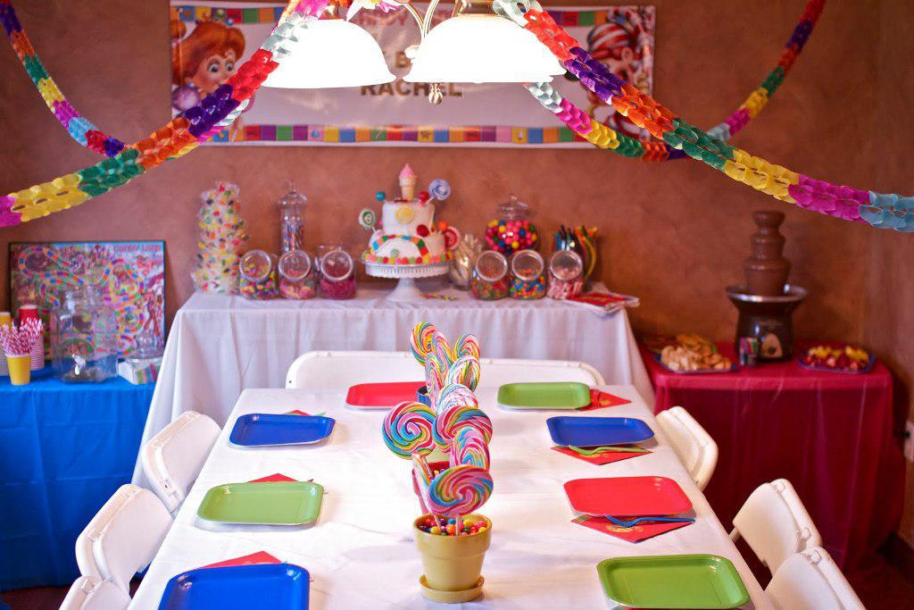 Image of: candyland party decoration ideas