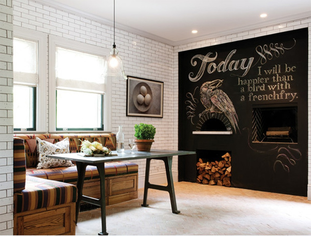 Image of: chalkboard wall decor