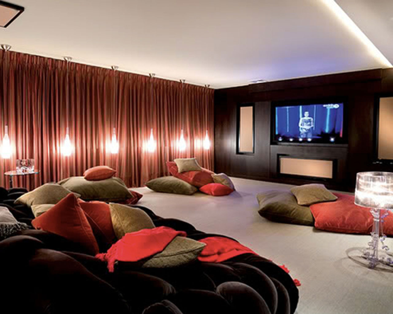 Image of: cool movie room decor