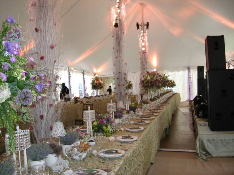 Image of: country wedding decorations