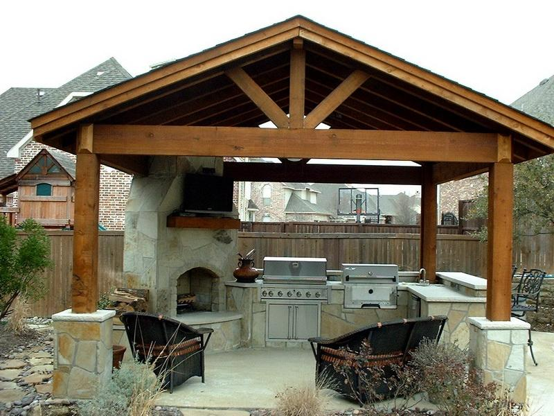 Image of: covered patio designs on a budget