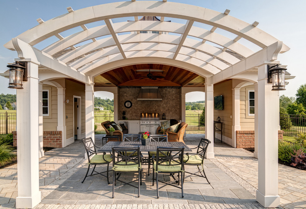 Image of: curved patio cover designs