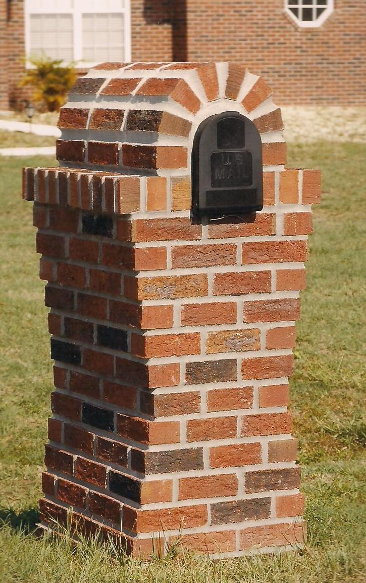 custom brick mailbox designs
