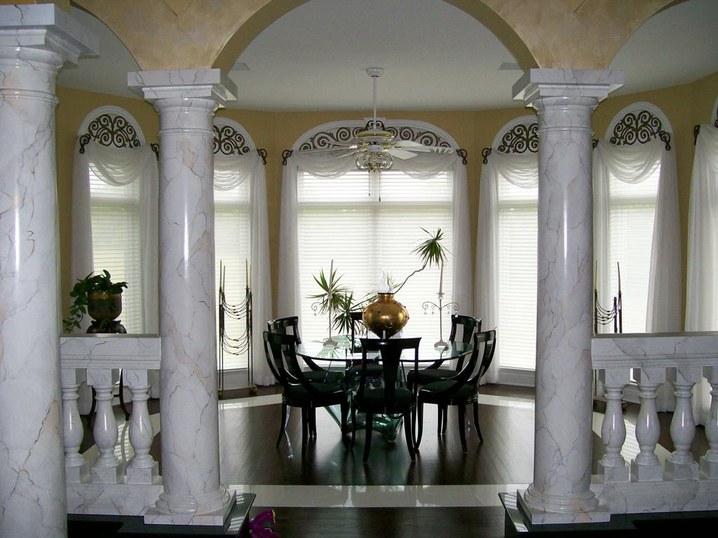Image of: decorative columns