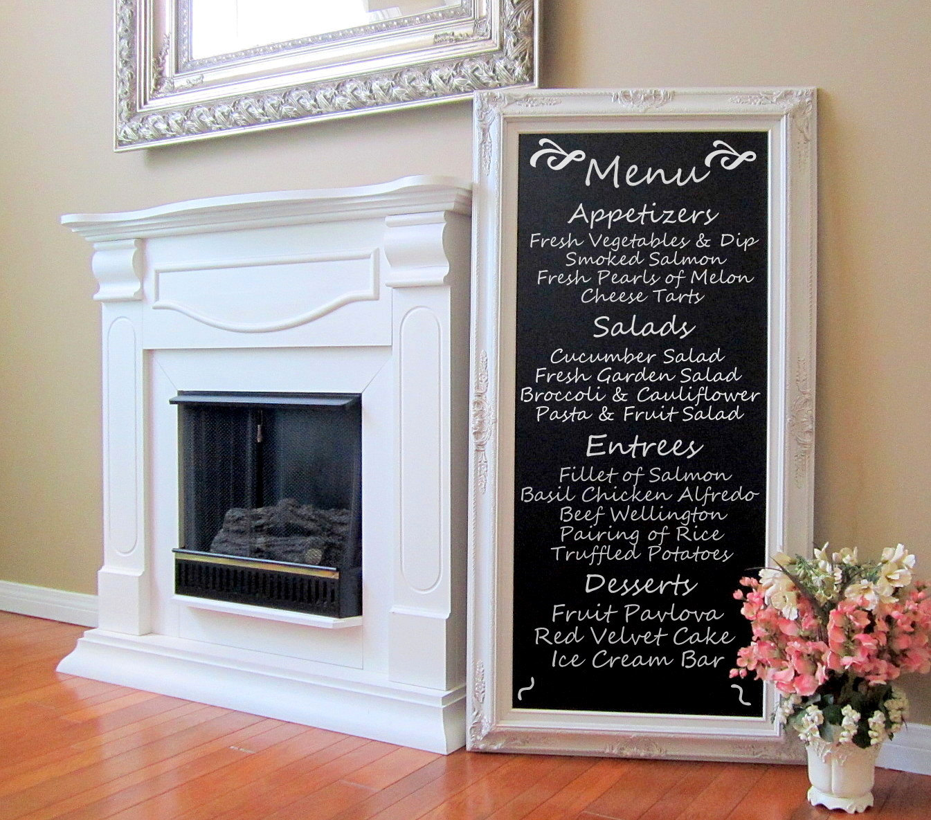 Image of: decorative framed chalkboard
