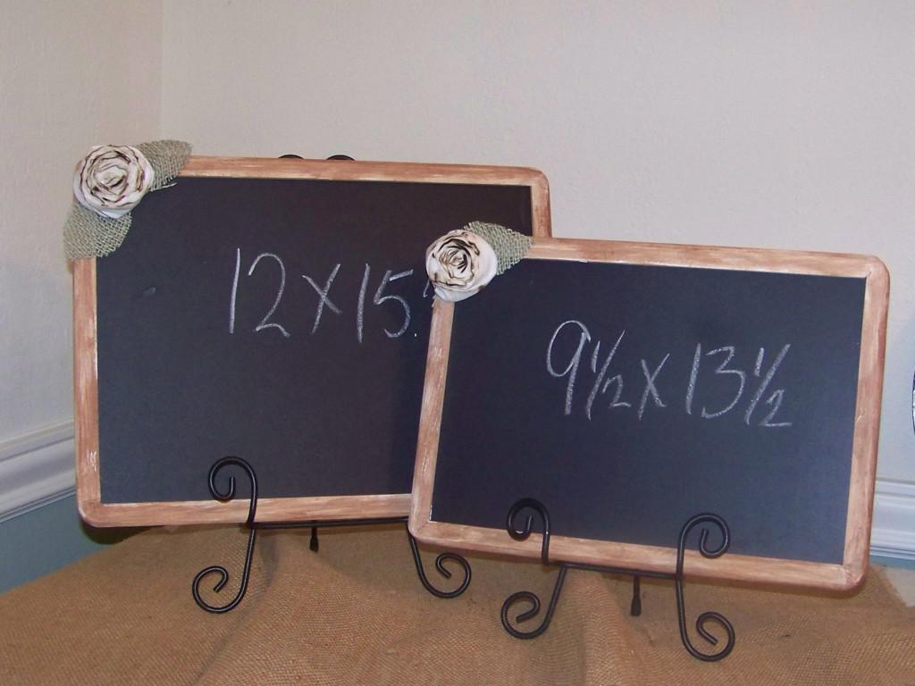 decorative framed chalkboards