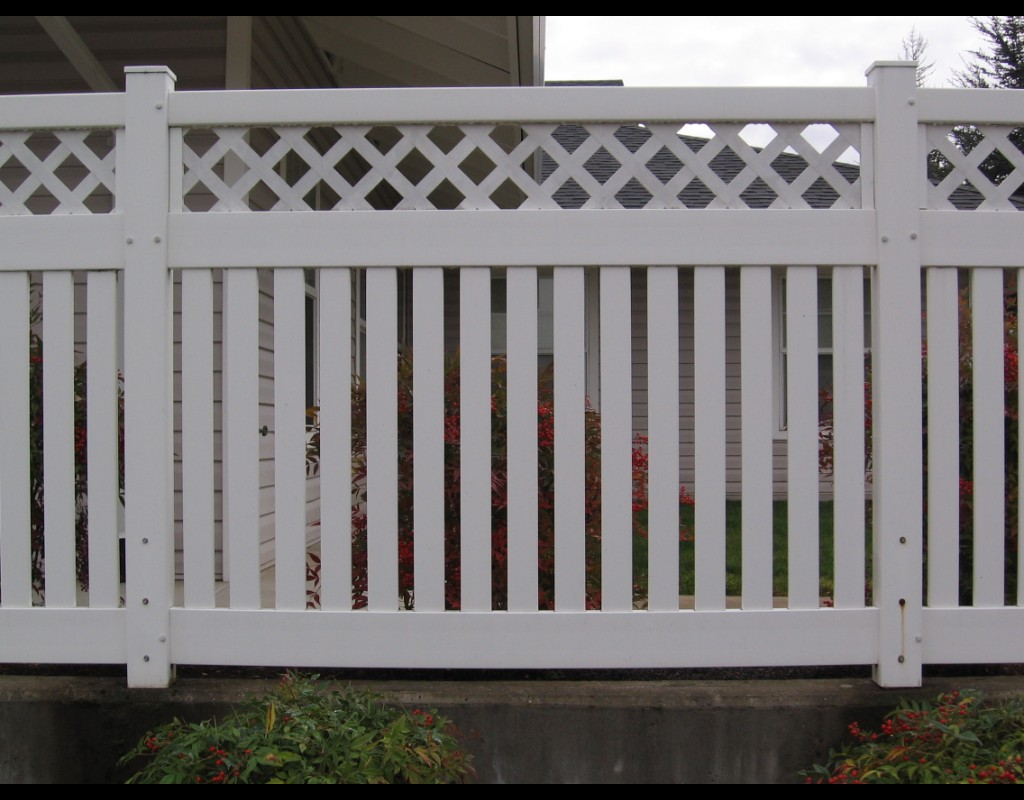 Image of: decorative garden fence