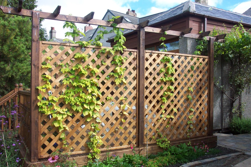 Image of: decorative garden fencing