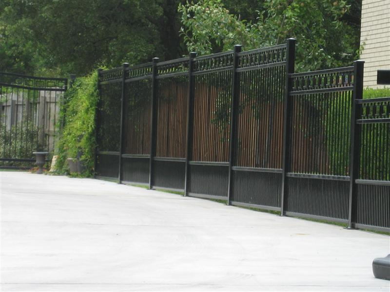 Image of: decorative metal fence panels