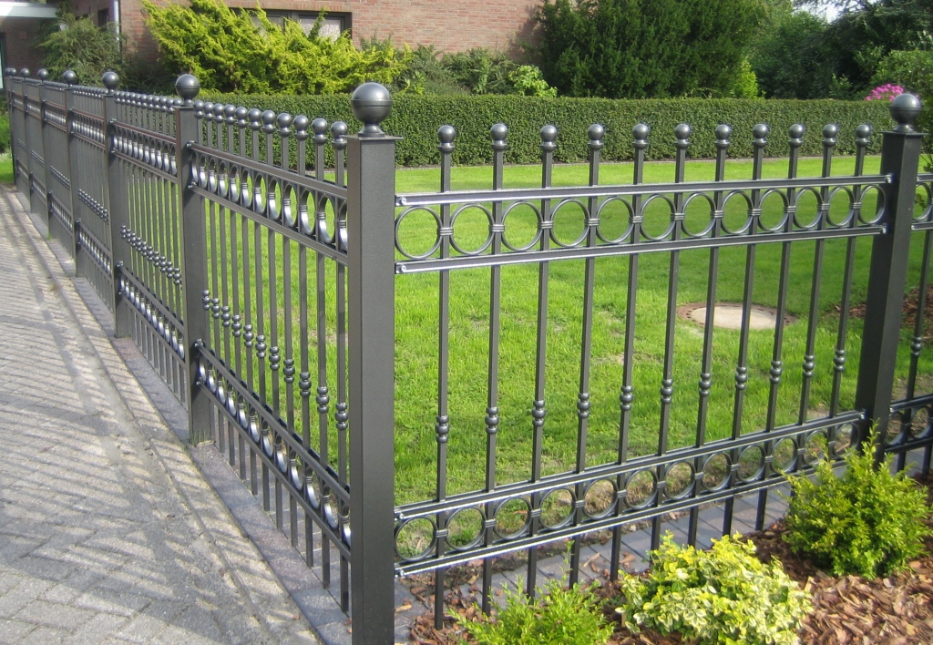 Image of: decorative metal fencing