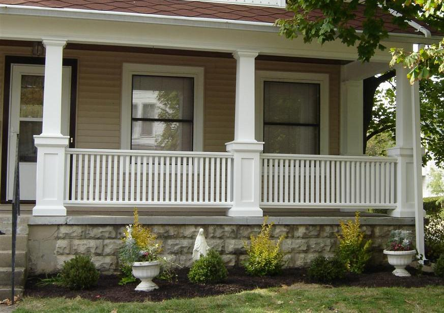 Image of: decorative porch columns