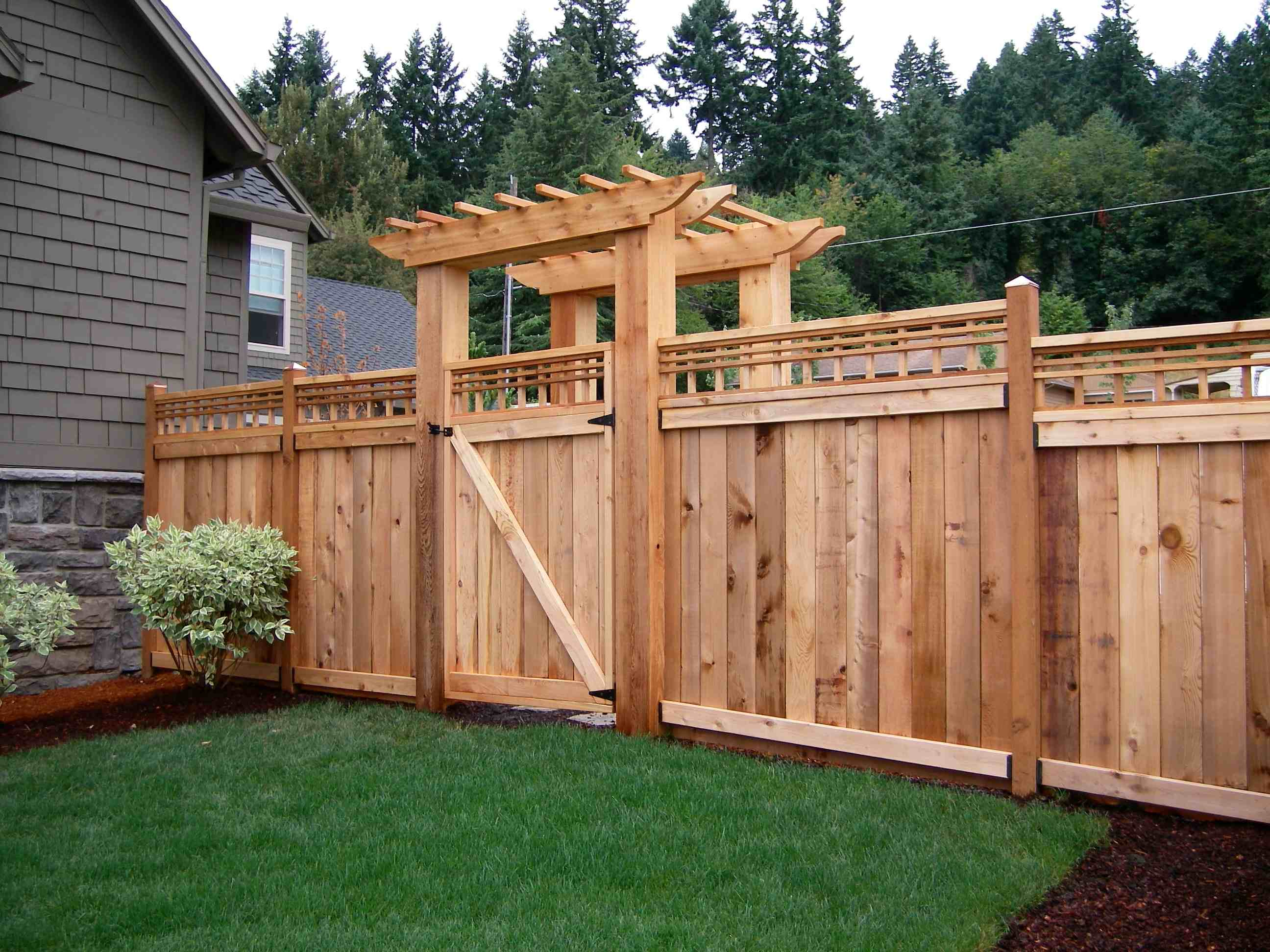 Image of: decorative privacy fence