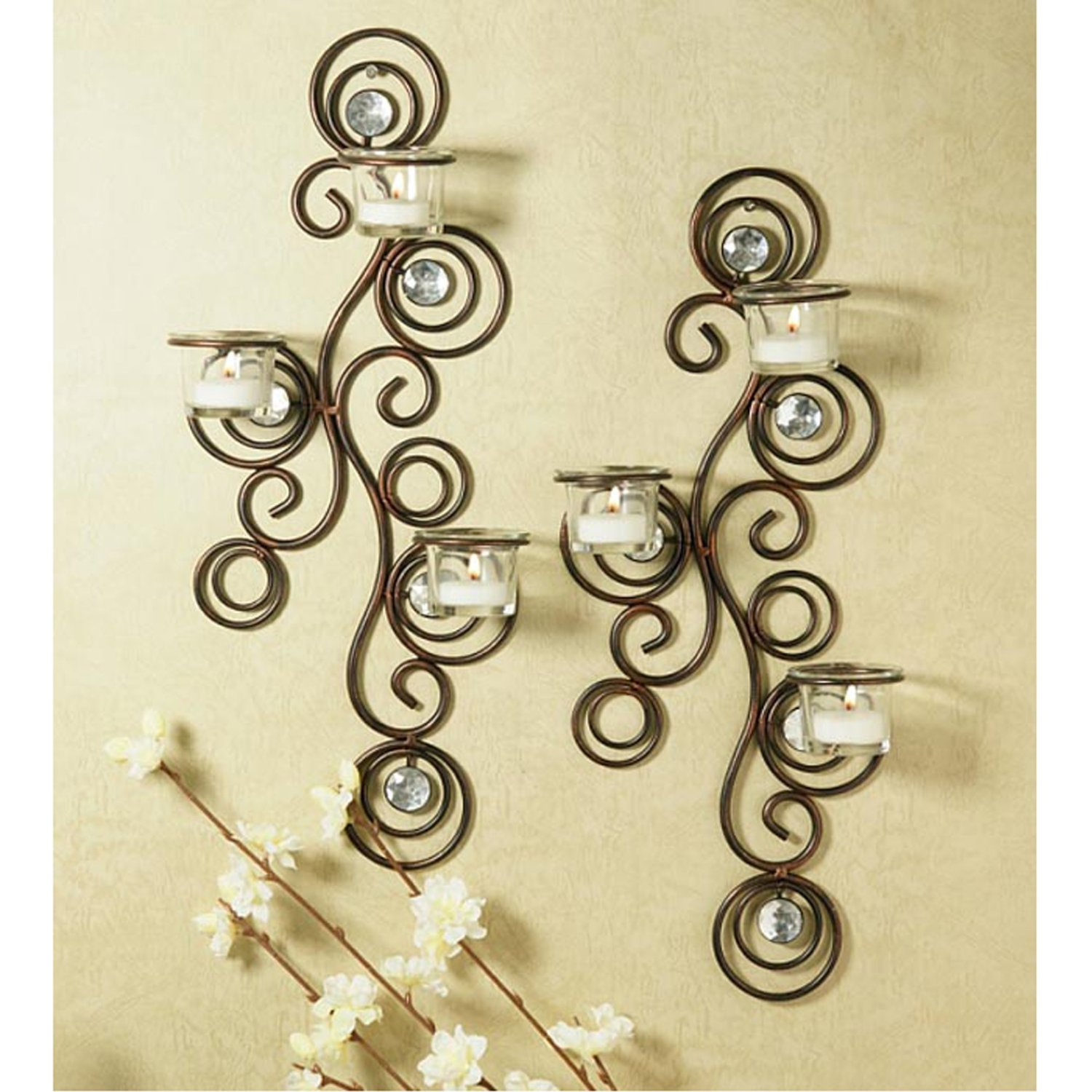 Image of: decorative wall sconces for candles