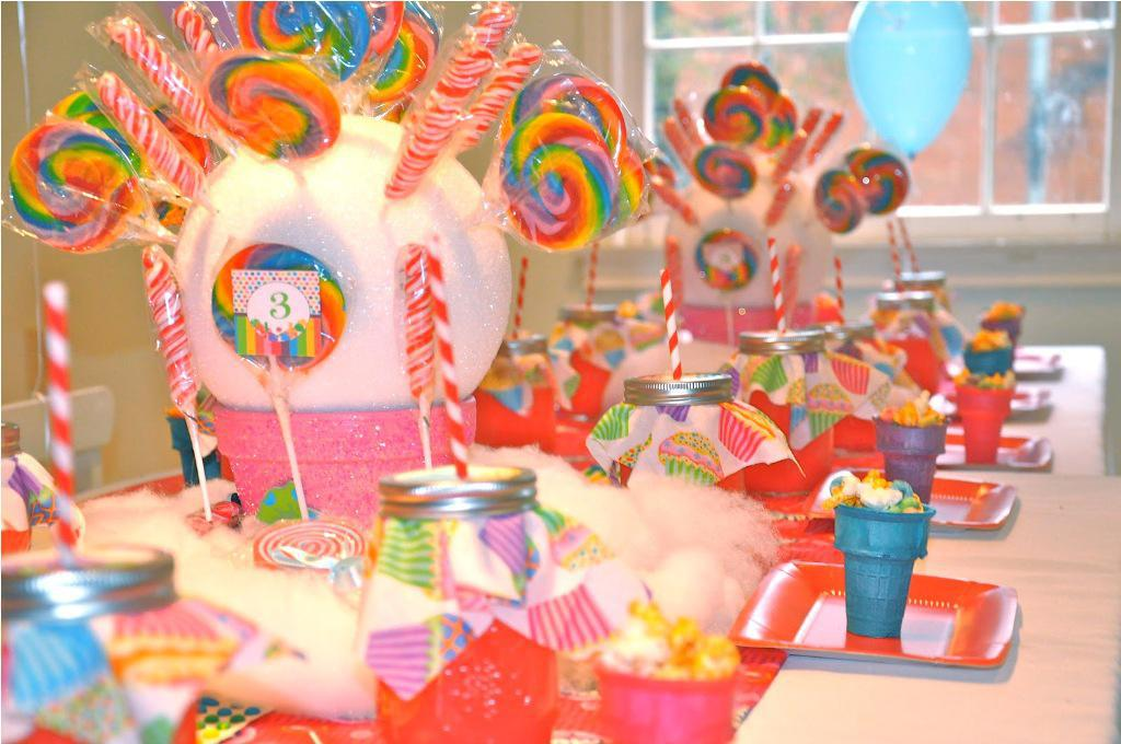 Image of: diy candyland party decorations