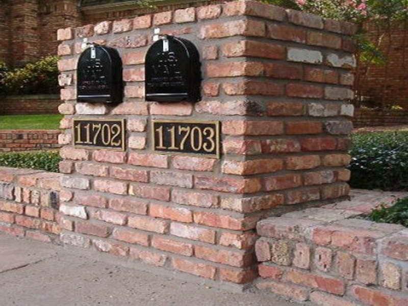 double brick mailbox designs