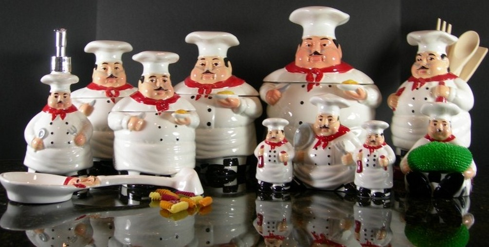 Image of: fat chef kitchen decor sets