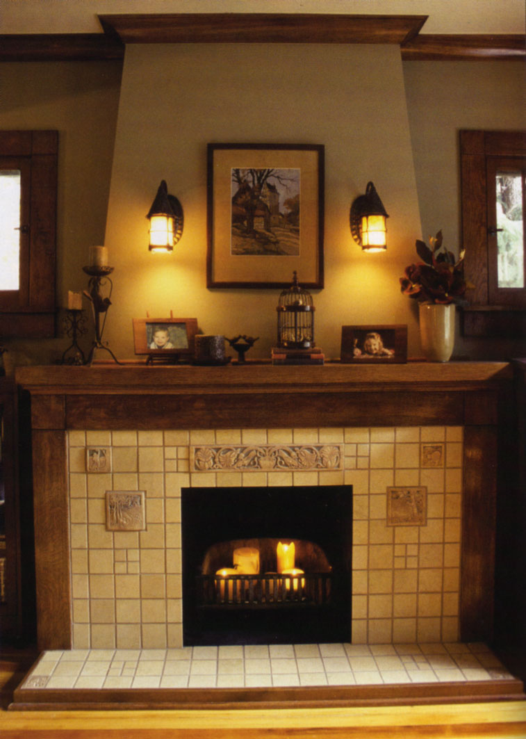Image of: fireplace design arts and crafts