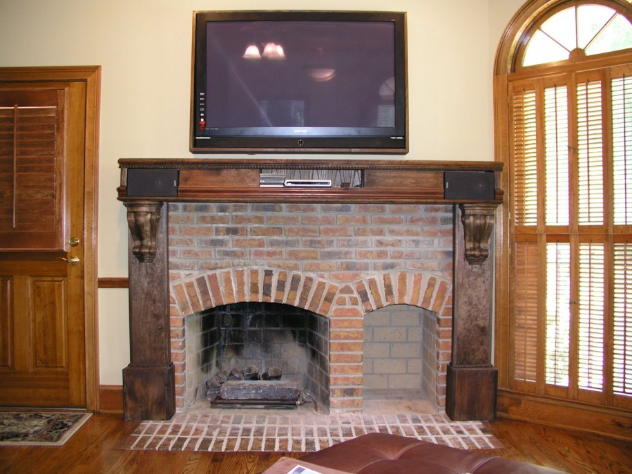 Image of: fireplace designs brick