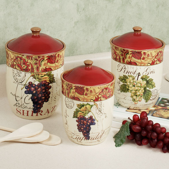 Image of: grape kitchen decor sets