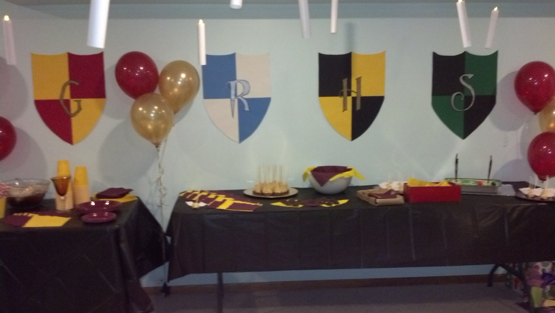 Image of: harry potter party decorations