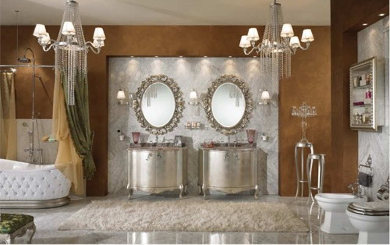 Image of: hollywood glam decor bathroom