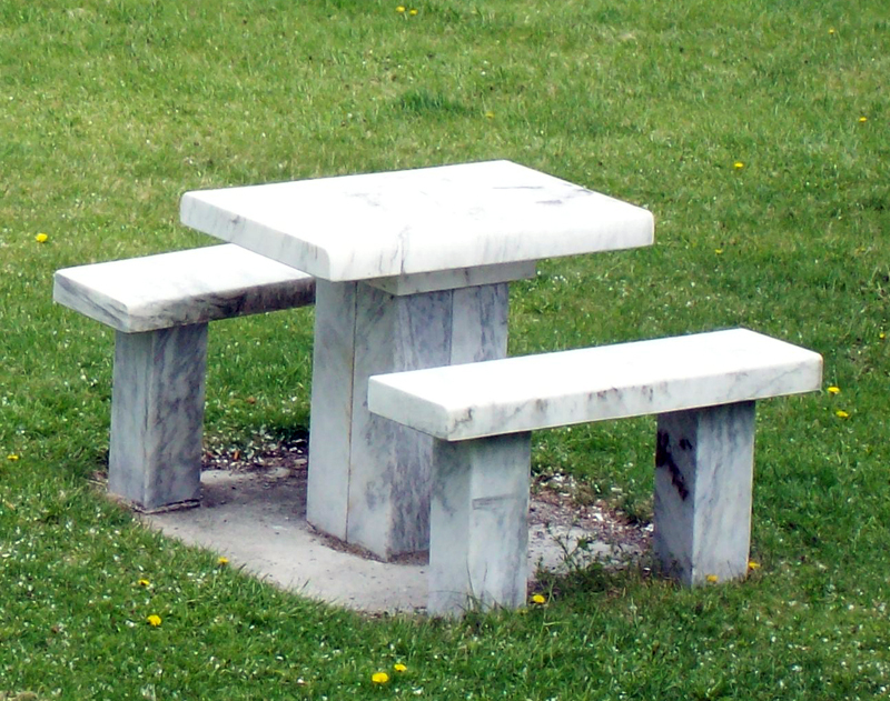 home depot concrete picnic tables