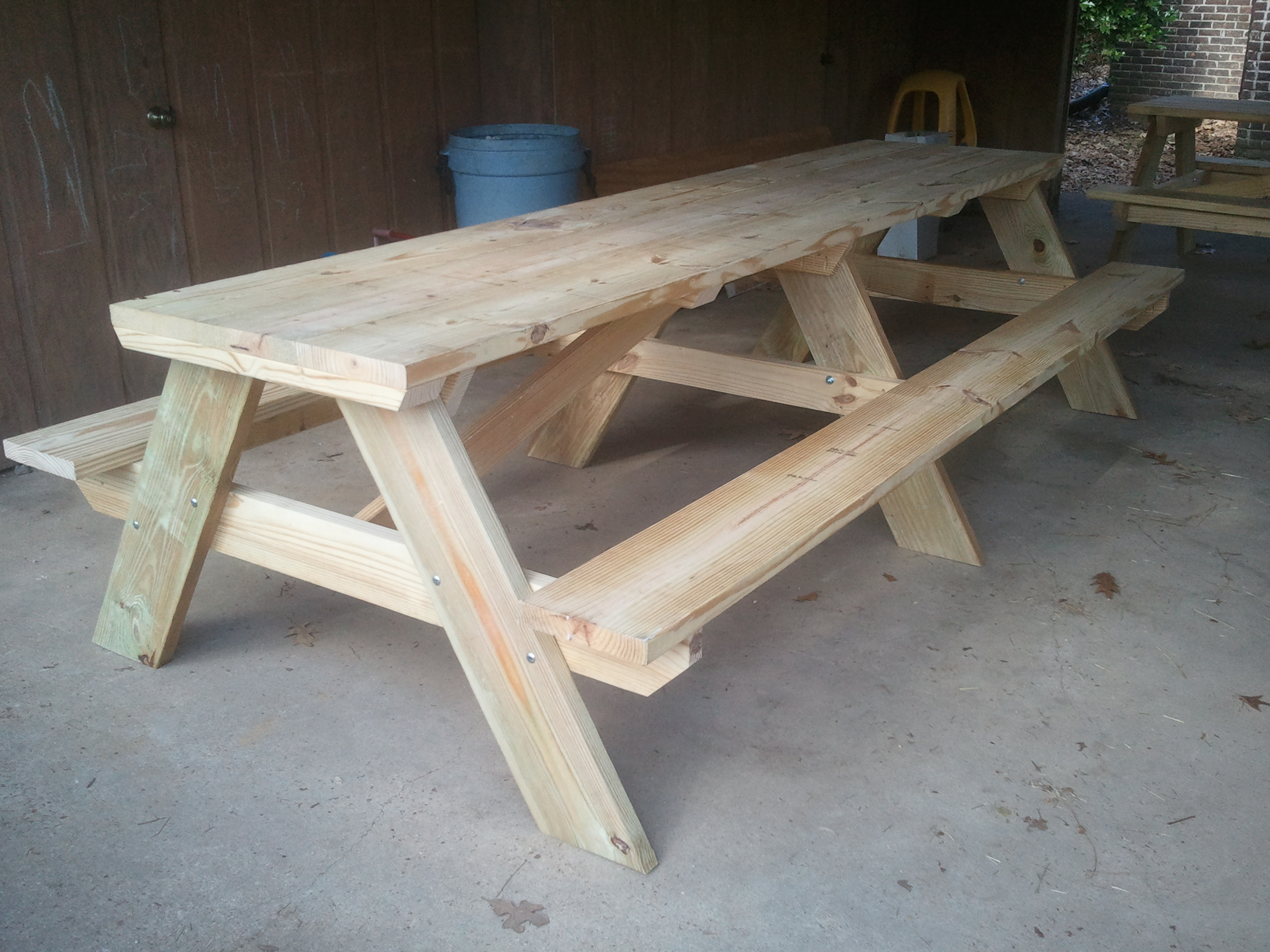 Image of: home depot picnic table plans