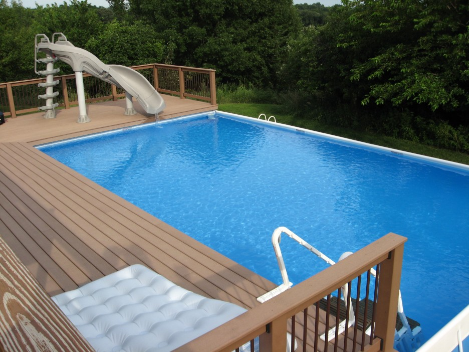 Image of: in ground pool deck designs
