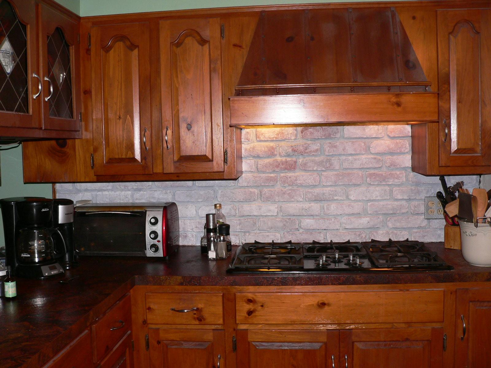 kitchen backsplash ideas brick