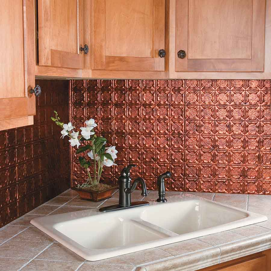 Image of: kitchen backsplash ideas copper