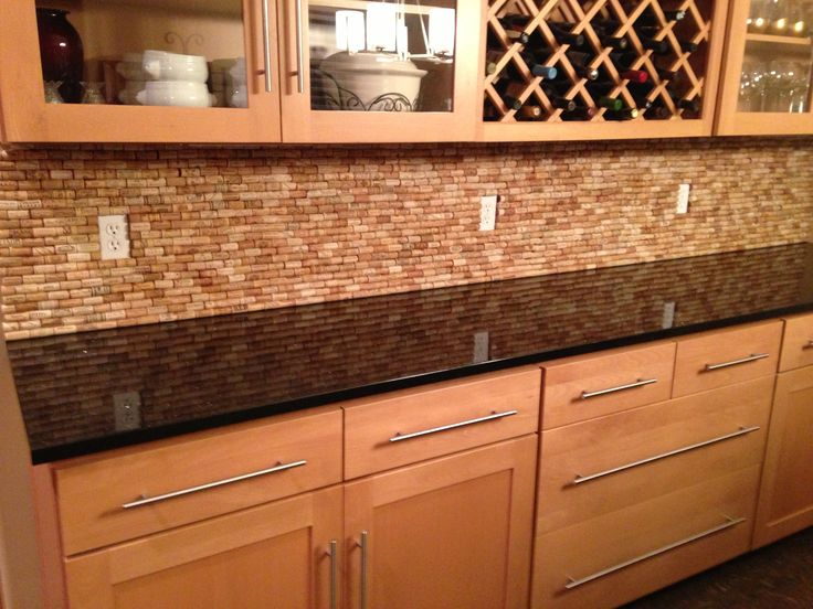 kitchen backsplash ideas cork