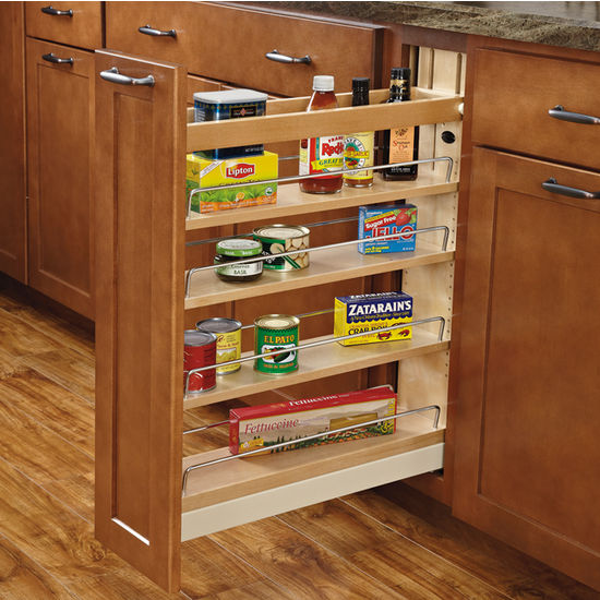 Image of: kitchen base cabinet organizers