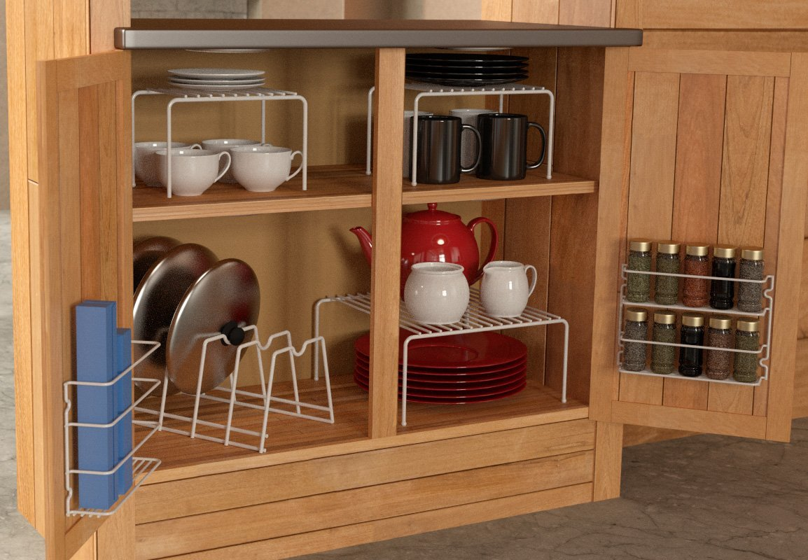 Image of: kitchen cabinet organizers for plates