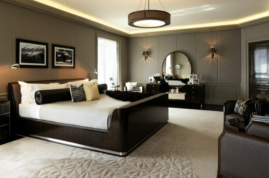 Image of: master bedroom ideas black furniture