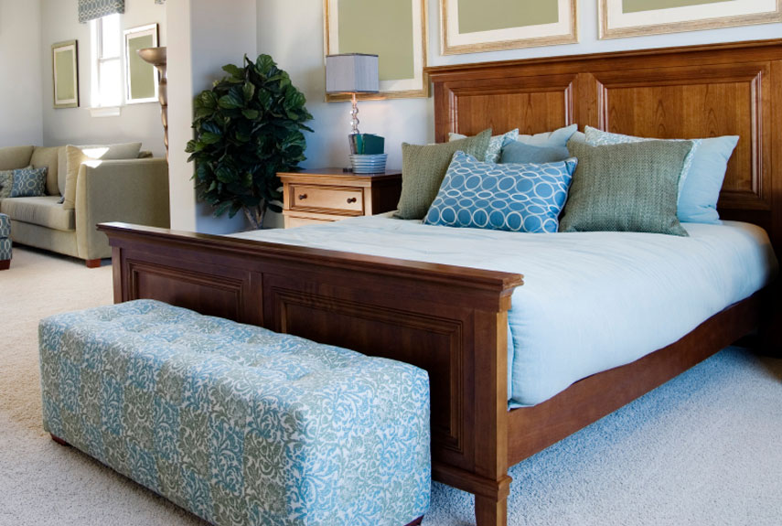 Image of: master bedroom ideas blue