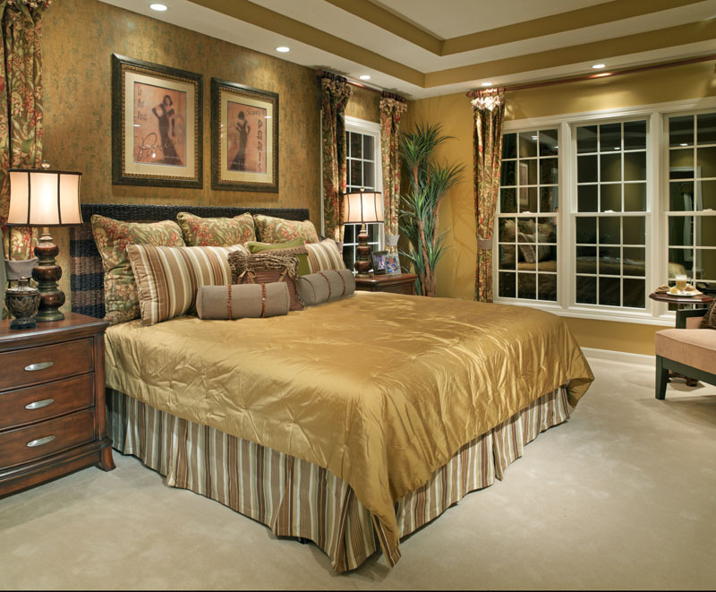 Image of: master bedroom ideas gold