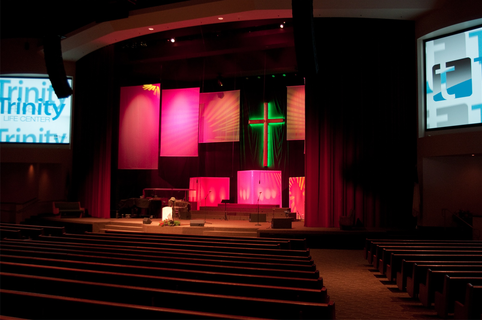 modern church stage design