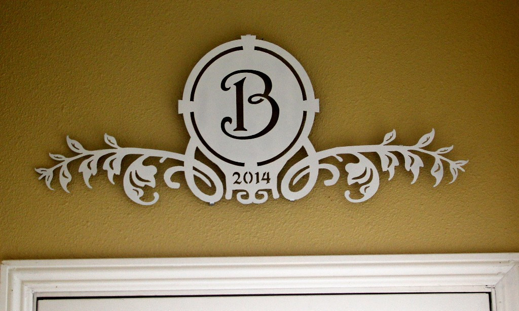 Image of: monogrammed wall decor