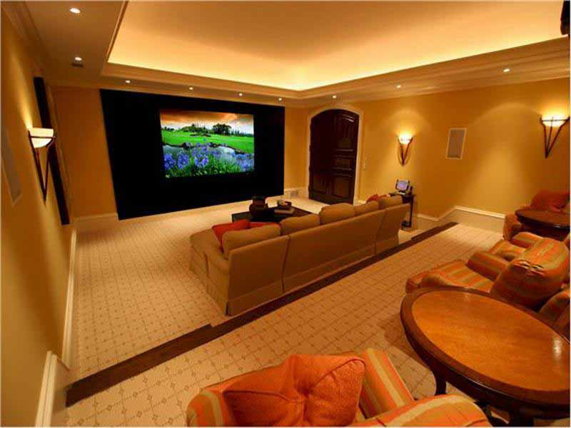 Image of: movie room decorating ideas